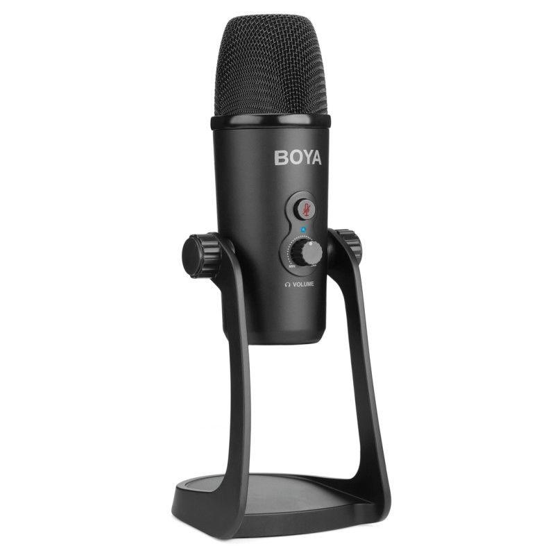 Boya By-Pm700 Computador Usb Microfone Ao Vivo Flexível Captador Conferência Entrevista