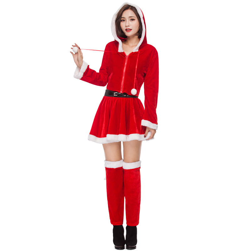 Plush Cute Santa Adult Womans Christmas Costume