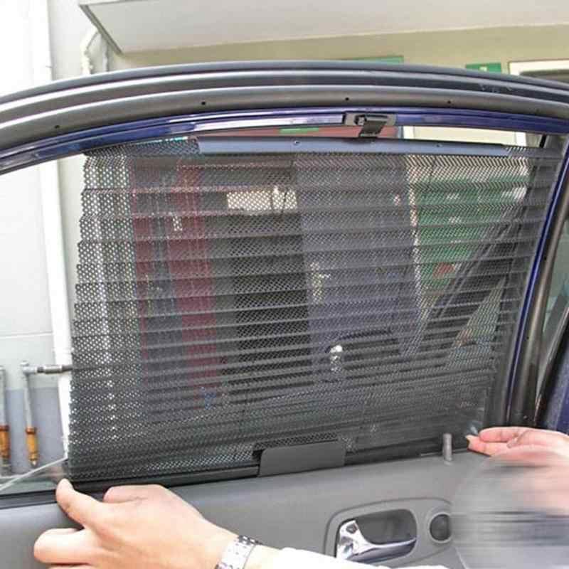 รถหน้าต่างม่านบังแดดสีดำด้านหลังกระจกบังแดด Sun Shade ฝาครอบ Visor Shield กระจกรถยนต์ Sun Shade Protector