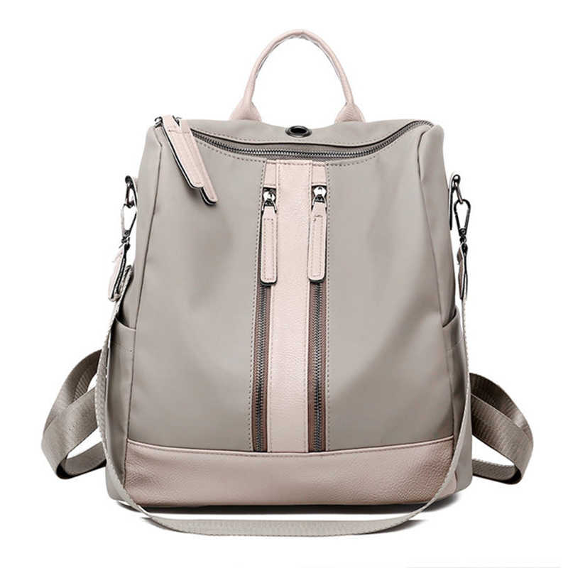 Luxury Designer Women Backpack Large Capacity Ladies Oxford Backpack  Fashion Double Zipper School Bags For Teenager a5d36ddf4eae2
