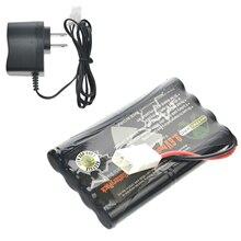 9,6 V Вольт 1000 mAh NiCd, перезаряжаемый аккумулятор Пакет пробка из Тамия разъем + США/AU/EU/UK Зарядное устройство