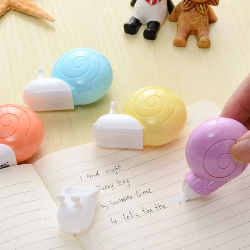 1Pc Snail Shape Correction Tape Lightweight Pen Eraser Portable School Supplies Stationery Specification 6m Send In Random
