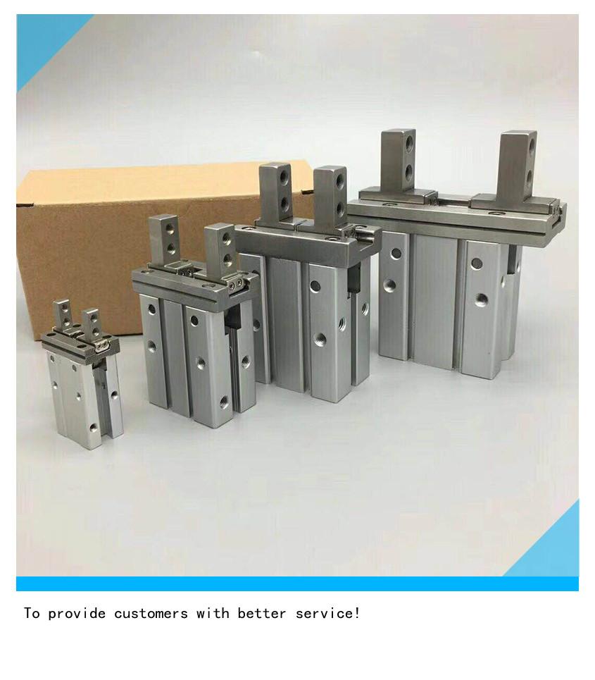 Pneumatic finger cylinder MHZ2-10D 16D 20D 25D 32D 40D Aluminium clamps