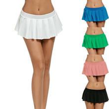 f9e35ef12b6 Sexy mujeres plisada Mini falda colegiala Micro corto vestido Cosplay vestuario  del Club