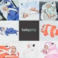 New cotton baby winter sleeping bag shark children sleeping bag warm baby blanket warm children quilt (1 3 years old)