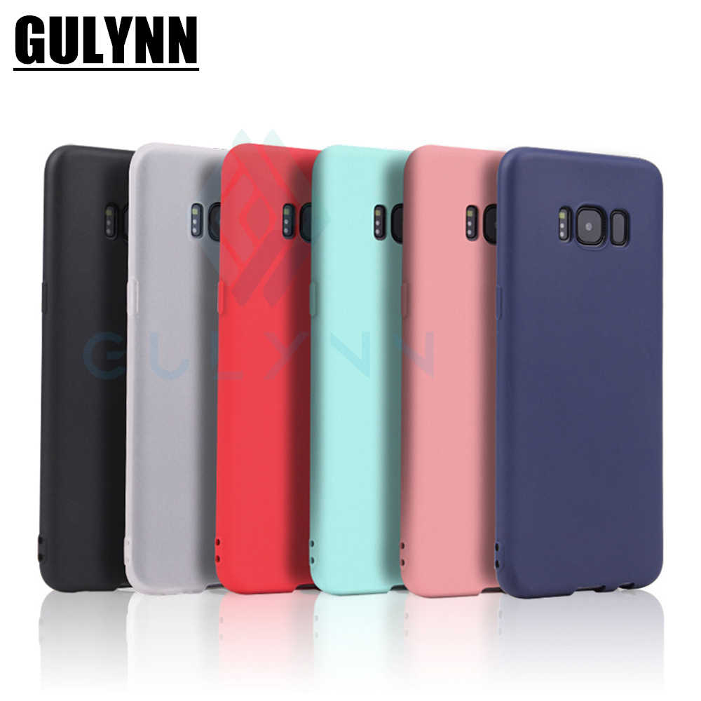 Candy Color Silicone Phone Case Cover For Samsung Galaxy A3 5 7 6 8 J4 J6 J8 S9 S9 Plus S8 S8 Note 8 9 Plus Matte Phone Shell
