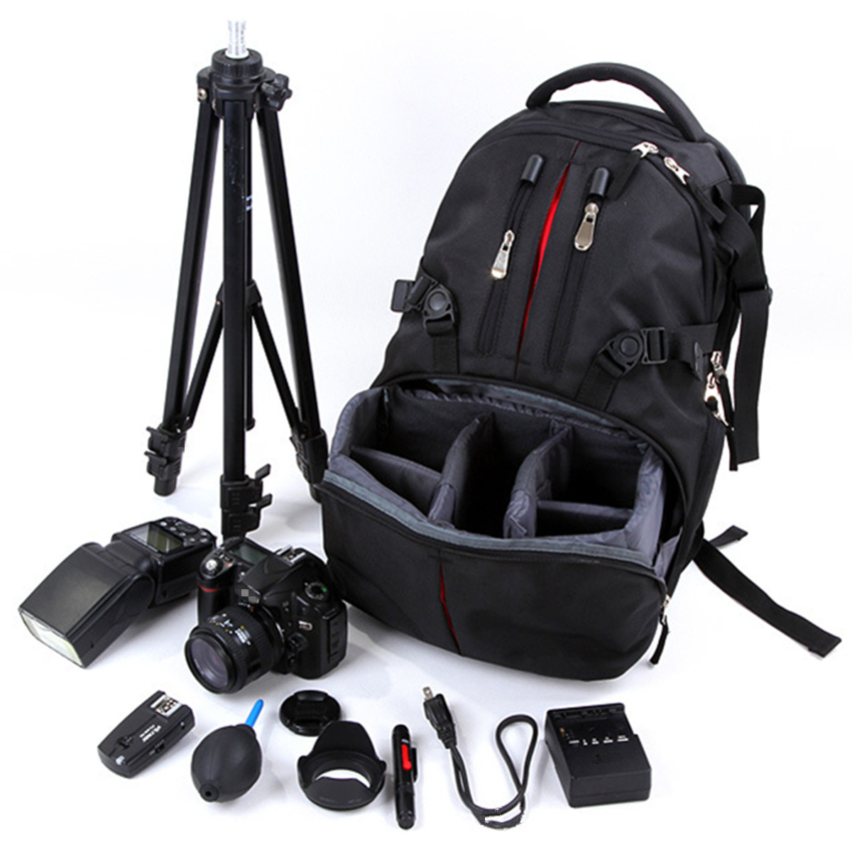 Waterproof DSLR Camera Backpack Case For Nikon For Canon Photo Bag for Camera &Outdoor Travel photographs Package Rucksack BagWaterproof DSLR Camera Backpack Case For Nikon For Canon Photo Bag for Camera &Outdoor Travel photographs Package Rucksack Bag