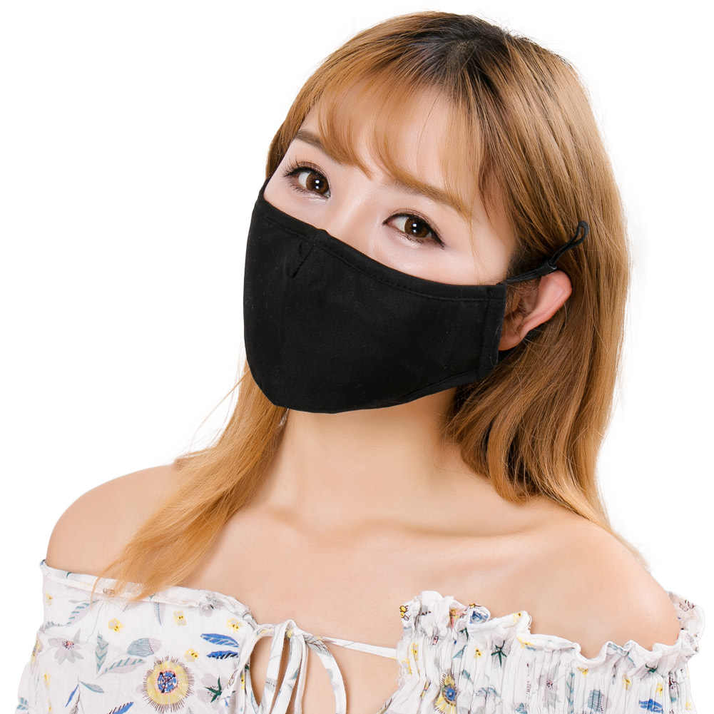 Tali Yang Dapat Disesuaikan Debu Hidung Logam Band Filter Yang Dapat Diganti Mudah Dicuci Respirator Cuaca Dingin Masker 3D Polusi