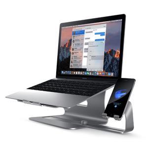 Подставка для ноутбука, алюминиевая охлаждающая подставка для ноутбука с подставкой для телефона slidi