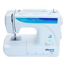 Швейная машина Minerva M832B (32 швейных операции, мощность - 105 Вт, длина стежка: 4 мм, ширина стежка: 5 мм, 800 об/мин, Быстрая замена лапок, Реверс, Подсветка рабочей поверхности, Работа двойной иглой)