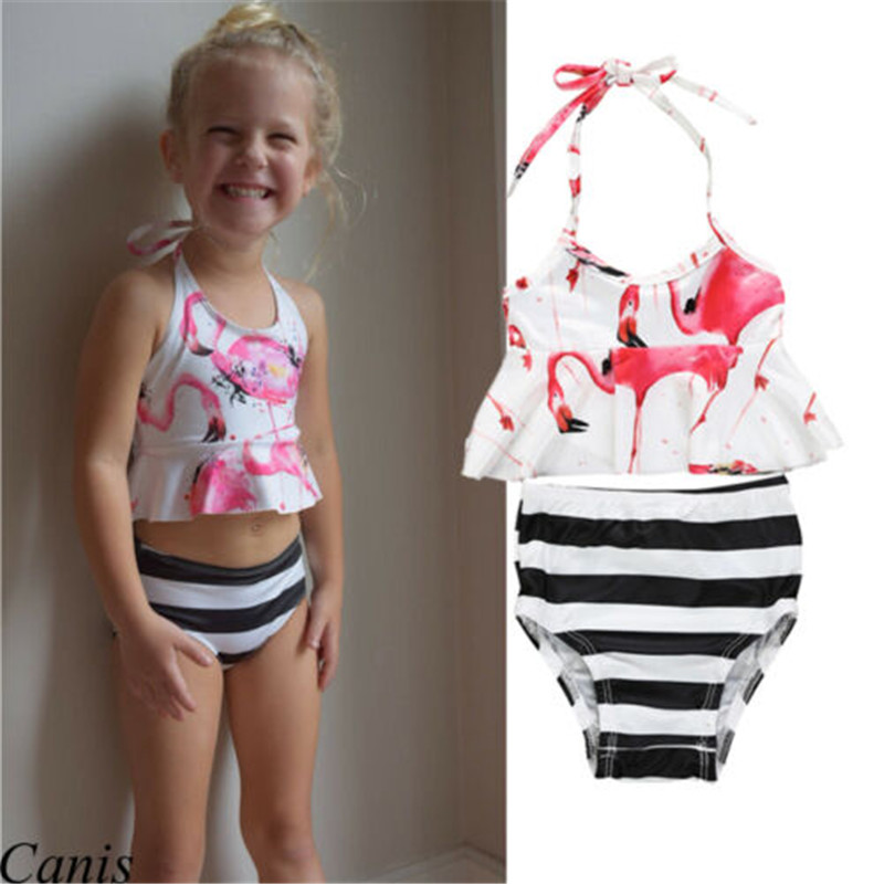 Shorts Swimsuit Set Kids Swimwear For Girls F1 Moderate Price 2019 Szyadeou Summer Kids Kids Girls Print Bikini Beach Sling Swimwear Swimwear