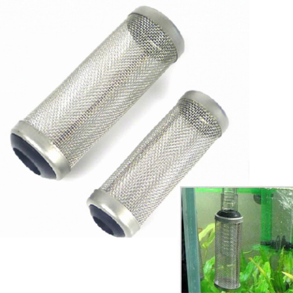 LVOERTUIG Aquarium Intake Strainer Filter Tank Fish Shrimp Mesh Net Stainless Steel Filting Guard 12mm/16 Mm(16mm)