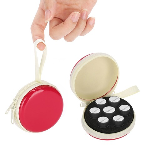 7 Bottle Round Essential Oil Storage Bag Organizer 2ml Rolling Ball Bottle Essential Oil Portable Container Makeup Tool Pakistan