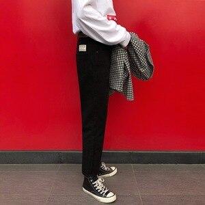 Image 3 - 2020 yaz erkek moda trendi siyah/mavi renk rahat harem pantolon streç Slim Fit Skinny Jeans Biker denim pantolon 27 34
