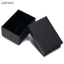 Lepton Black Paper Cufflinks Boxes 30 PCS/Lots High Quality matte paper Jewelry Cuff links Carrying Case wholesale