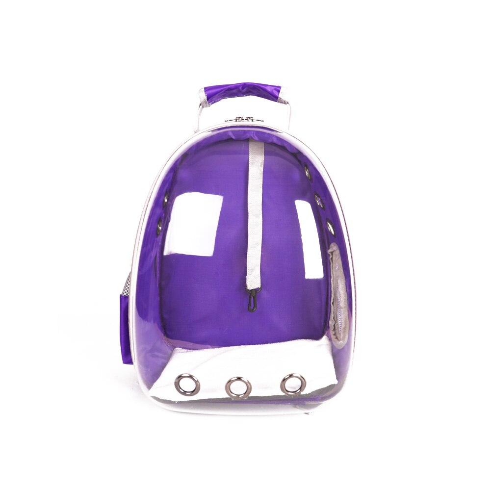 92e309786709 Прозрачный ПЭТ Сумка-переноска фиолетовый прозрачный космос капсула товары  для животных Путешествия Рюкзак