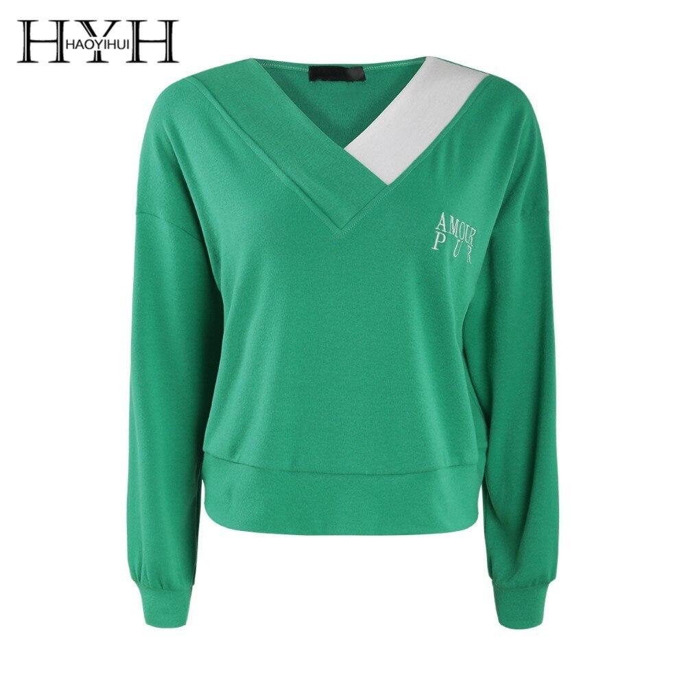 HYH HAOYIHUI  2019 Hoodie Asymmetrical Colour V Leader