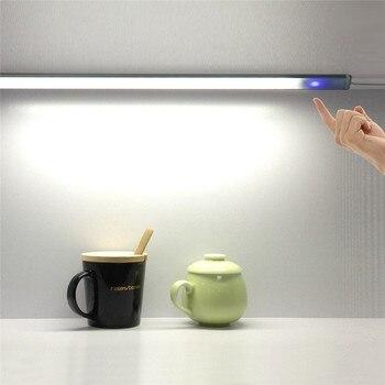 CLAITE Regulável Sob A Luz Do Armário 50 cm 10 w DC12V SMD5730 Mão Sensor de Movimento CONDUZIU a Luz Rígida Bar LEVOU Noite luz para Uso Doméstico