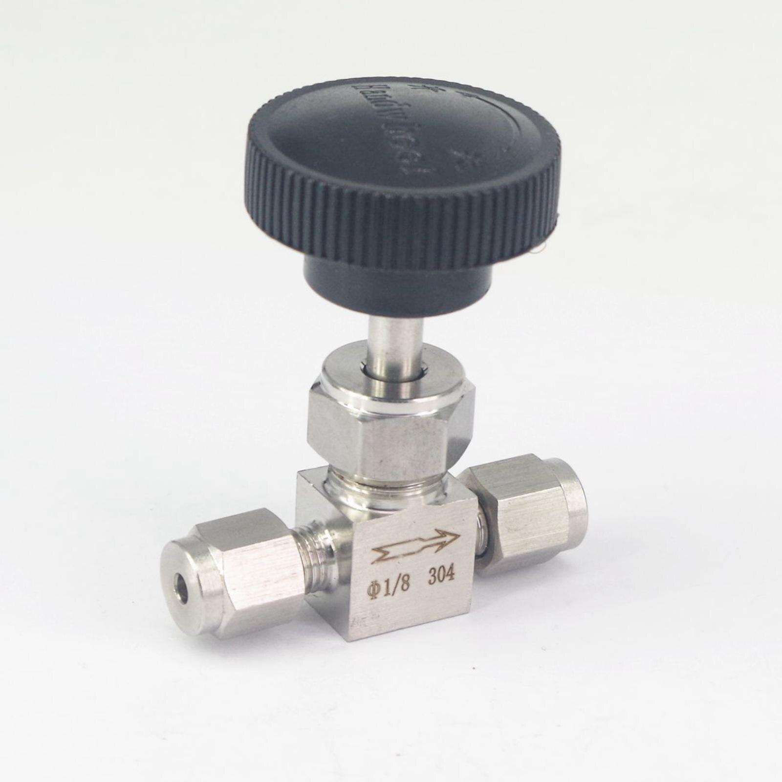 Fit 1/8 od Rohr 304 Edelstahl Abgeschaltet Flow Control Nadel Ventil Luft Kompression Fitting 6,4 Mpa Zu Den Ersten äHnlichen Produkten ZäHlen Rohrverbindungsstücke