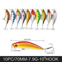 Promotion 20PCS Fish Lure Hard Durable Lure Fishing Lures Crankbait Plastic Lures Outdoor Angling Tackle Equipment