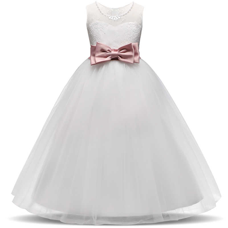 b0ef136252 Summer Baby Elegant Dresses For Girls Communion Graduation Ceremony White  Tulle Gown Party Long Prom Gowns 14t Teenager Dress