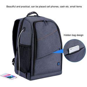 Image 4 - PULUZ extérieur Portable imperméable à leau à lépreuve des rayures double épaule sac à dos caméra accessoires sac numérique DSLR Photo vidéo sac