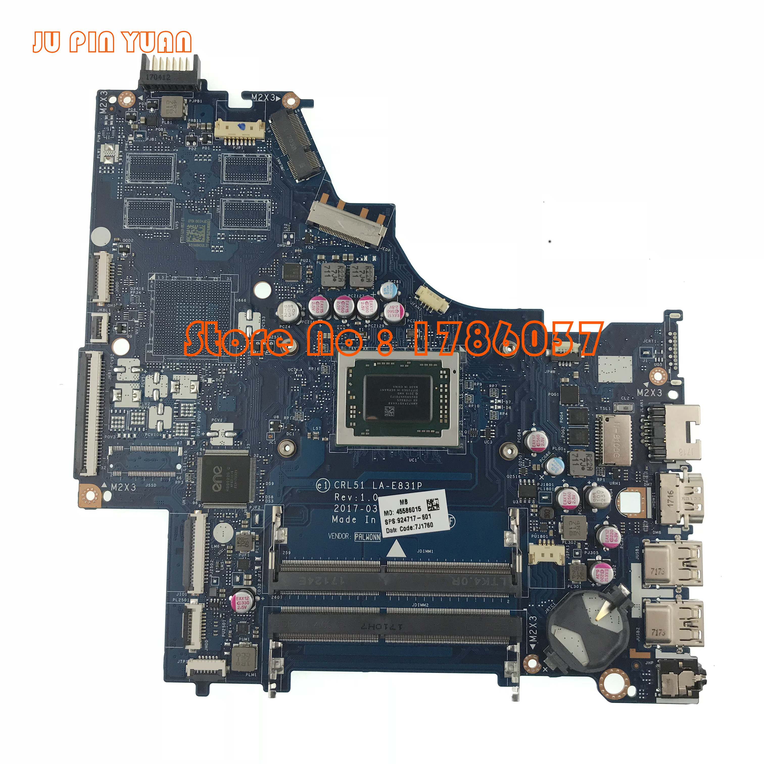 JU PIN YUAN For HP 15 15 BW Series 924717 601 924717 001 A12 9720P CTL51