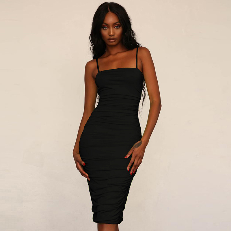 From india spaghetti strap ruched bodycon dress evening vendors wholesale