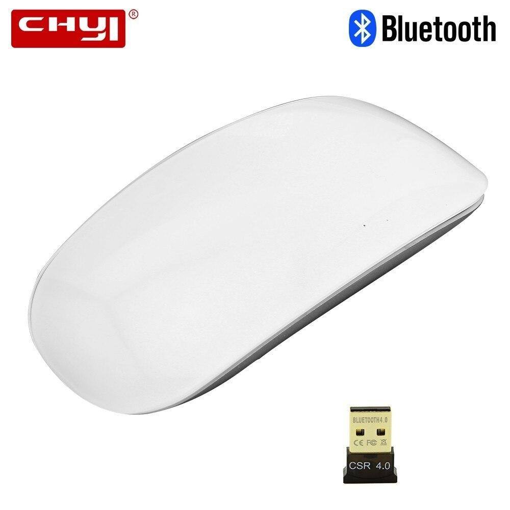 CHYI Bluetooth Sem Fio Arc Touch Mini Mouse de Computador Gamer Mice Mause Magia Portátil Fino Para Macbook Laptop Microsoft