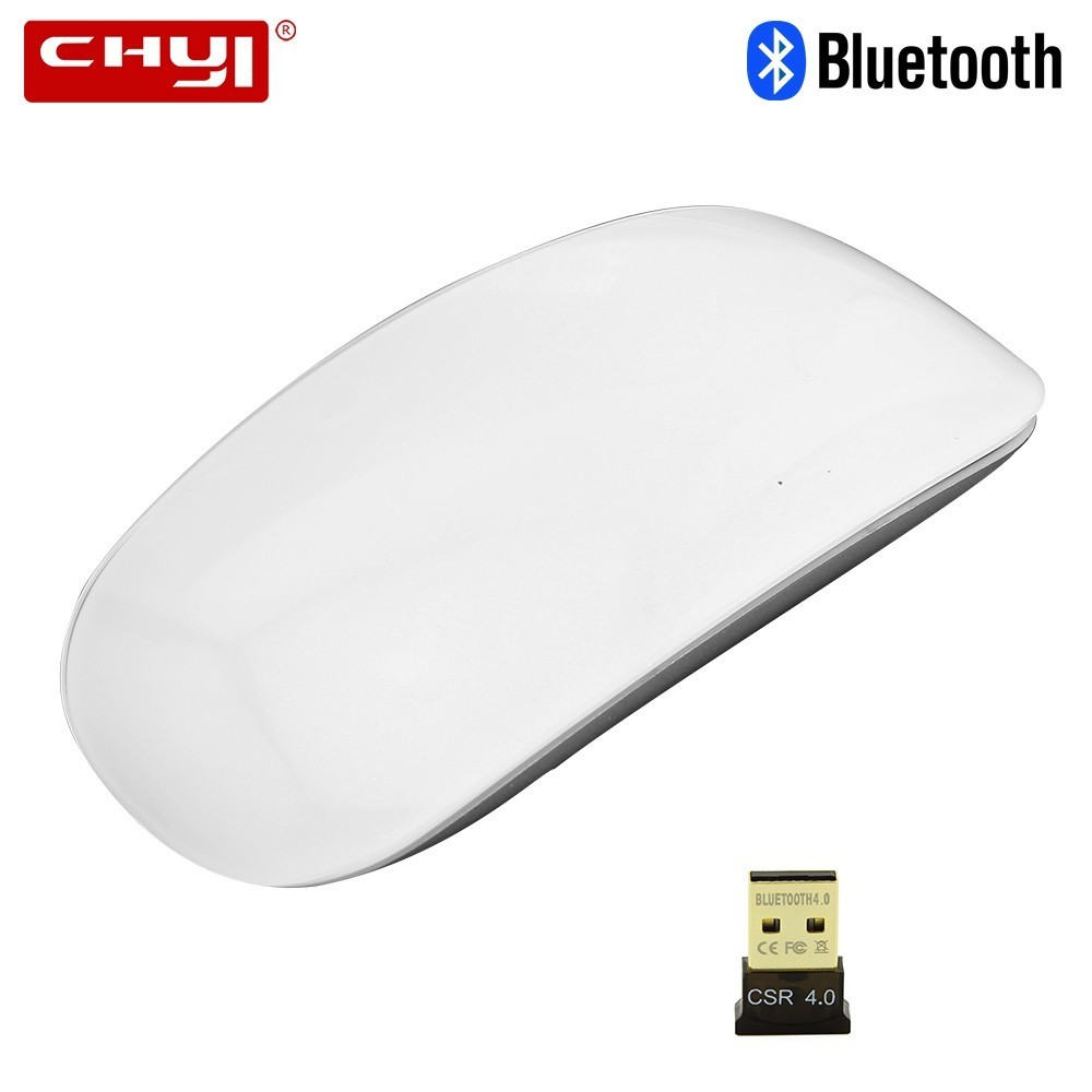 CHYI Bluetooth Wireless Arc Touch Computer Mouse Mini Slim Portable Mause Magic Gamer Mice For Macbook Laptop Microsoft