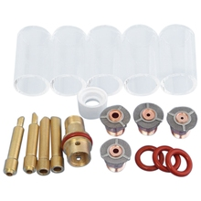 1 Set 18 Pcs Tig Welding Torch Collet Body Pyrex Cup Accessories For WP-17/18/26 Series Welding Machine