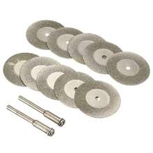 30 Pieces Diamond Cutting Wheel Cut Off Discs Coated Rotary Tools With Mandrel 22Mm