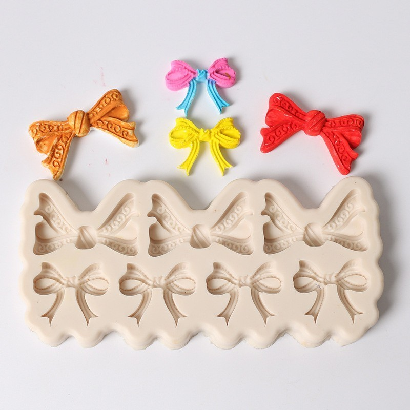 3D Silicone Mold Butterfly Bowknot Fondant Cake Decor Chocolate Baking Tool DIY