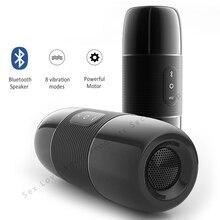 цены Bluetooth Speaker Male Masturbator 10 Modes Vibrator Wireless Audio Vagina Real Pussy Sex Toys For Men Masturbador Masculino