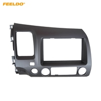 FEELDO Car CD/DVD Stereo Panel 2Din Fascia Frame For HONDA Civic (LHD,with SRS hole) 2007 2011 Radio Dash Mounting Installation