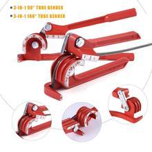 6mm/8mm/10mm Pipe Tube Bender Bending Tool Heavy Duty Tube Bender Tubing Bender Pliers Tube Manual Elbow Tool 90/180 Degre