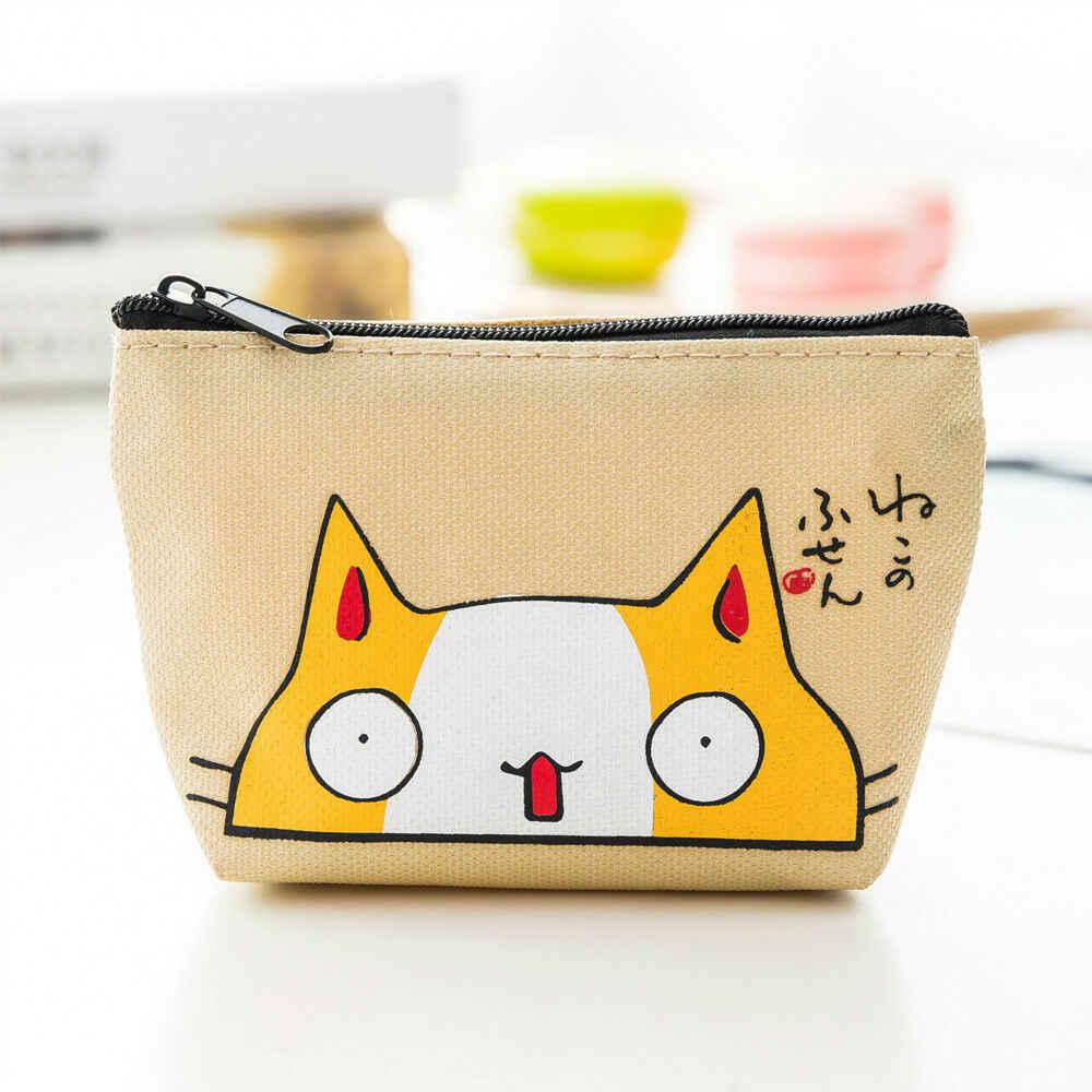 2019 горячие для женщин портмоне милый кот уход за кожей лица мини квадратный Кошелек для монет кошелек сумочка-клатч