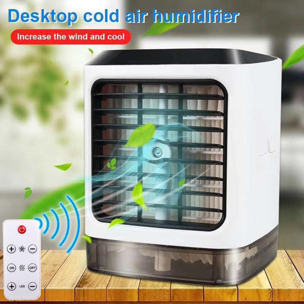 Avec télécommande interface Usb refroidisseur d'air Portable Mini ventilateur evapolar humidificateur Portable 3 vitesses à distance pour bureau maison