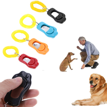 1pc Pet Trainer Pet Dog Training Dog Clicker Adjustable Sound Key Chain And Wrist Strap Doggy Train Click 6 Colours Can Choose pet training dog clicker adjustable sound key chain and wrist strap doggy train