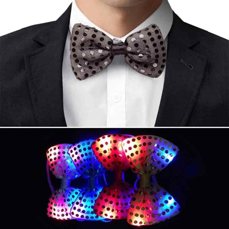 Детские люминесцентные игрушки галстук-бабочка с подсветкой Вечерние огни блестки осветительный реквизит собирающие вечеринки неоновые мигающие светящиеся игрушки