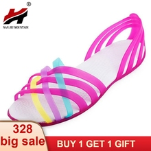 41f395aad3bfb9 Women Sandals 2017 Hot Summer New Candy Color Women Shoes Peep Toe Stappy  Beach Valentine Rainbow