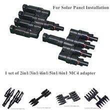 2in1/3in1/4in1/5in1/6in1 pv ramo conector macho & fêmea conexão adaptador painel solar paralelo conectar adaptador à prova dwaterproof água