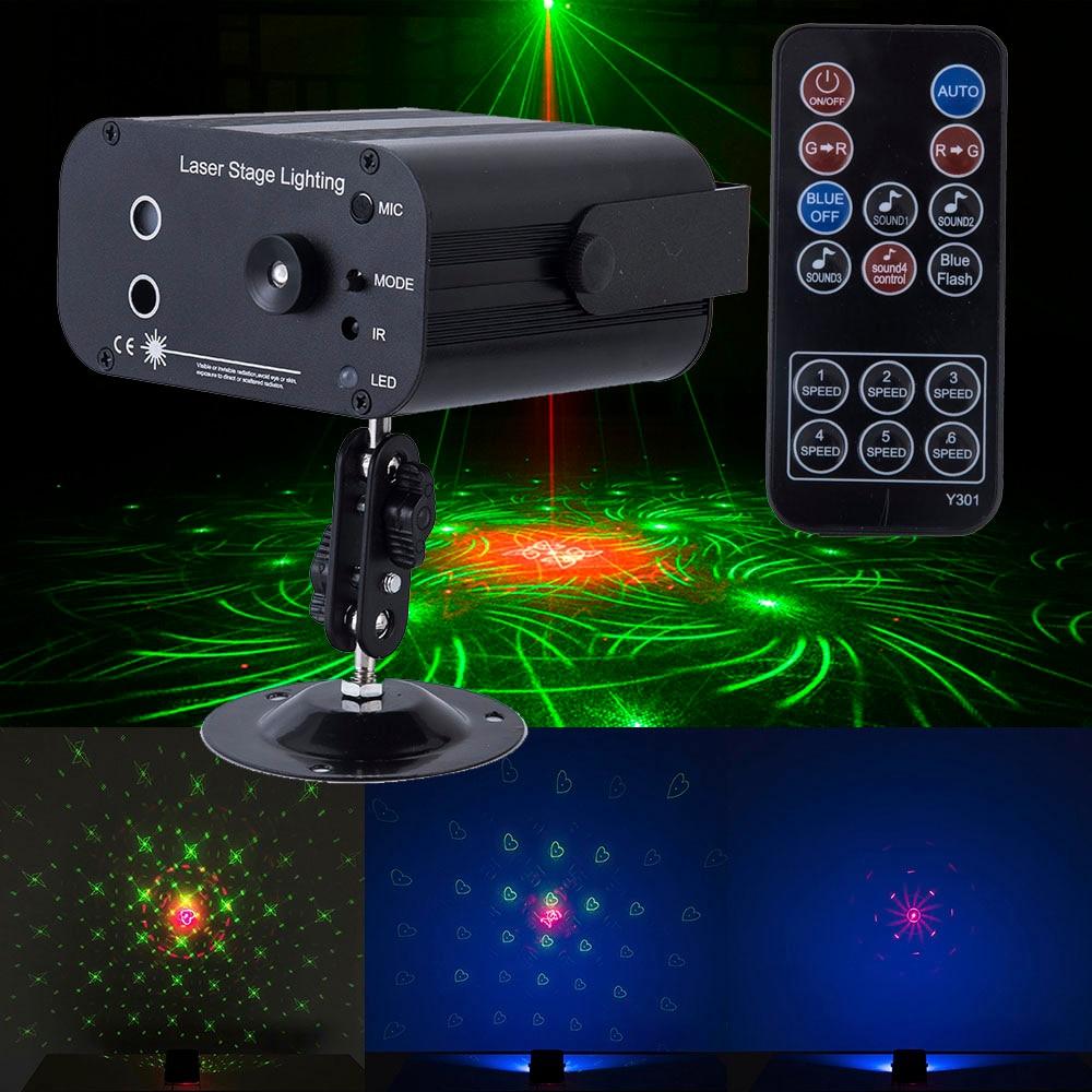Christmas Holiday Sounds/remoter Control Laser System Light RGB Led Stage Lighting Effect Disco Laser Projector Lights