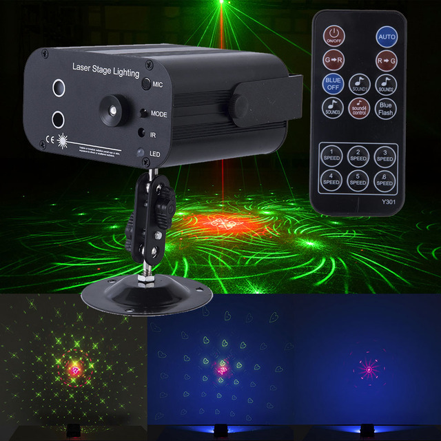 Christmas holiday sounds/remoter control laser system light RGB led stage lighting effect Disco Laser Projector Lights