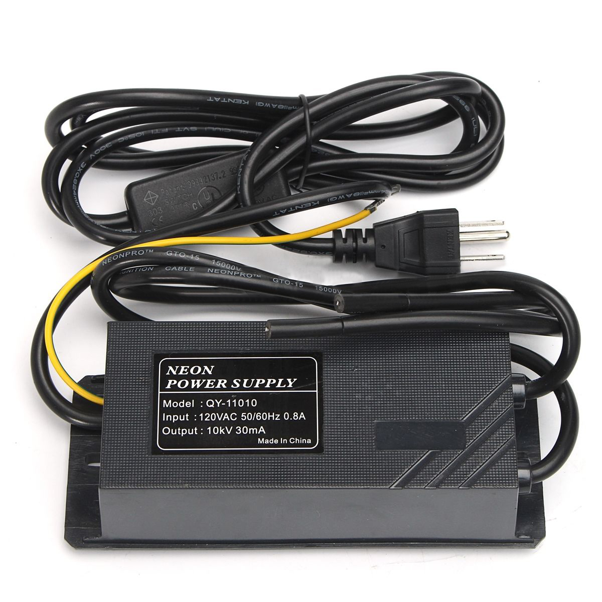 IKVVT New 10KV 30mA 110V Black Neon Electronic Transformer Power Supply Rectifier Kit