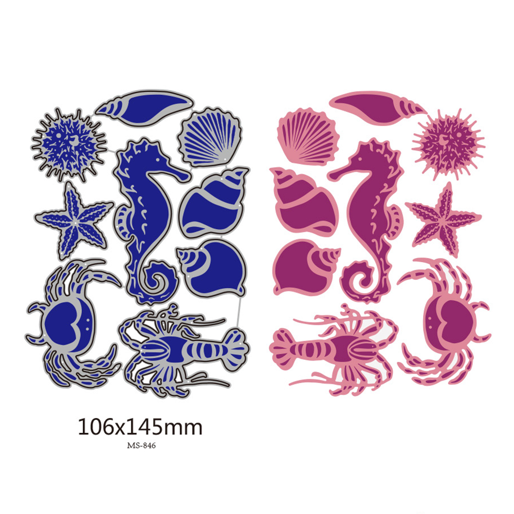 Sea <font><b>Horse</b></font> Shell Dies scrapbooking New Arrival <font><b>Metal</b></font> Cutting Dies New 2019 Embossing Craft New <font><b>Metal</b></font> Cutting Die Cut For 2019 image