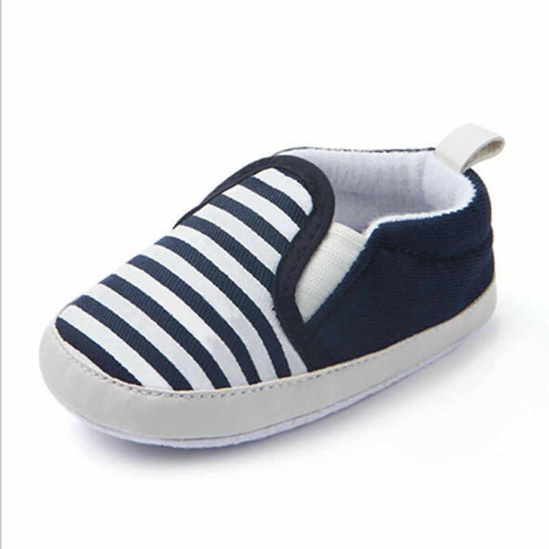 2019 العلامة التجارية الجديدة عربة الوليد فتيات صغيرات يتدربن على المشي الفتيان الاطفال الرضع الأولى مشوا مخطط الكلاسيكية أحذية المتسكعون عارضة أحذية ناعمة