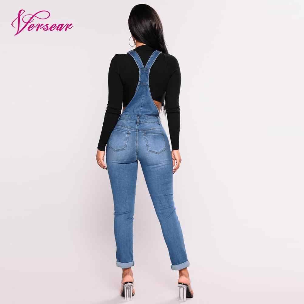 655ec9c5af40 ... Women Denim Jumpsuits Casual Sexy Stretch Romper Ladies Denim Pencil  Overalls Stretch Slim Dungarees lue Jeans ...