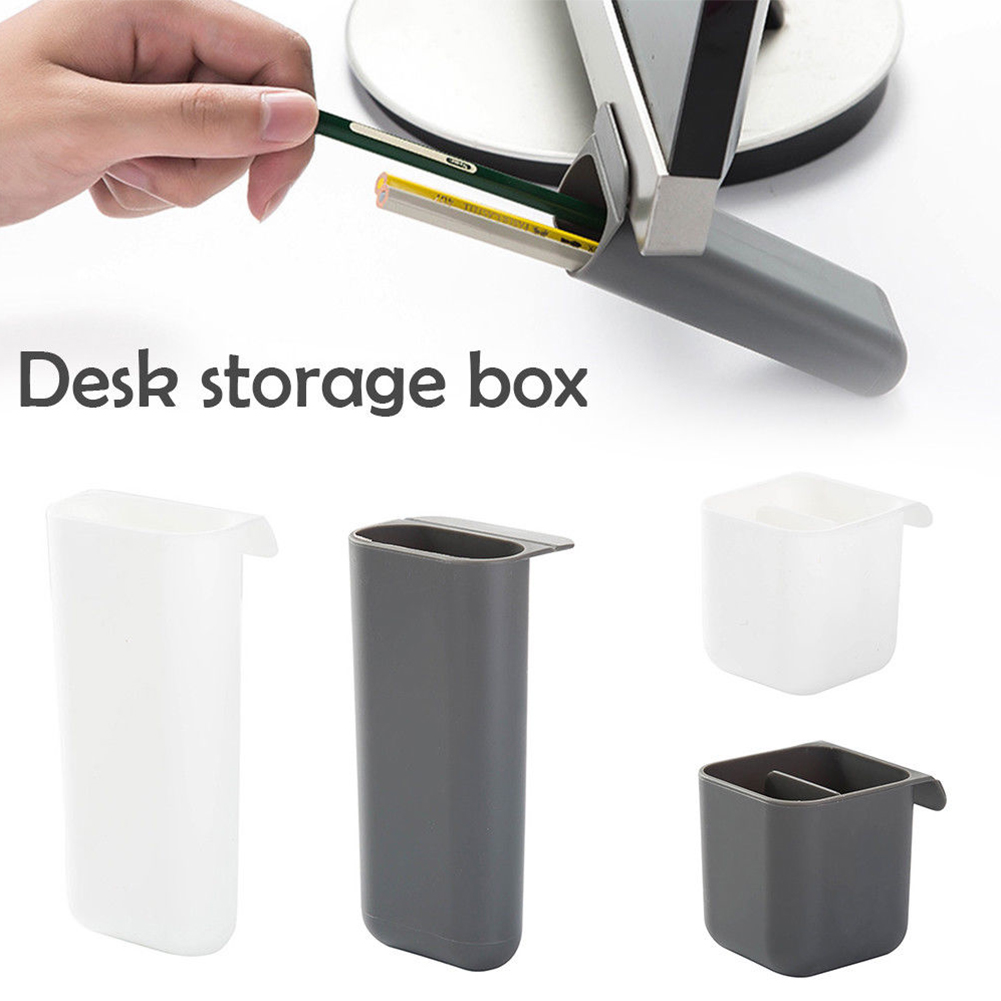 Stationery Pen Holder Makeup Storage Stick On Desktop Plastic Office Pencil Box Desk Organizer Brush Pot