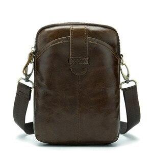 Image 4 - Vintage Erkek postacı çantası Hakiki Deri Erkek Mini Seyahat Çantası Adam omuz çantaları Küçük Crossbody Çanta Erkek Erkek Deri Çanta